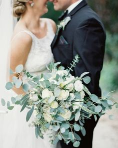 Don't you love how the eucalyptus takes over this bouquet? | Photography…