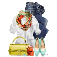 Ash & Anchor Scarf by cynthia335 on Polyvore