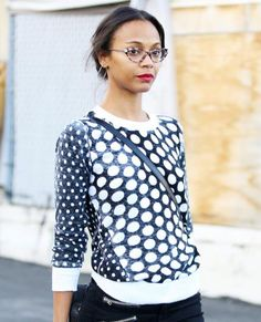 Eye Spy: See Our Favorite Stars in Super-Chic Specs - Zoe Saldana from #InStyle