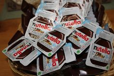 nutella packets.♡ Can we just take a moment to appreciate this brilliance :)))
