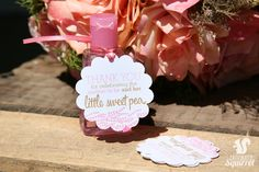 Blush Pink and Gold - Thank You for Celebrating the Mother to Be and Her Little Sweet Pea Tags, Perfect for Baby Showers, Sweet Pea, Flowers by CaffeinatedSquirrel on Etsy Baby Shower Tags, Baby Showers, Pink And Gold, Blush Pink, Gold Ribbons, Tag Design, Card Stock, Gift Wrapping, Place Card Holders