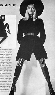 All photos by David Bailey / Top Photo: Vogue UK September 1967 / Below: The only photo that ran in Vogue US - Curate - For the Vintage Obsessed | shrimptoncouture.com