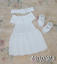 #freeshipping #baptism Dresses #baby girl dress booties от tappleta