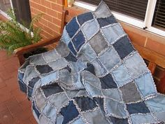i have sooo much old denim...must try this