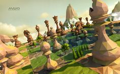 Low Poly-Chess Master(Spring) on Behance
