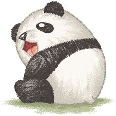Happy panda on Behance