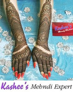 Kashee's New Look Makeup and Hair Styles for Bridal 2018 – Fashion Cluba Dulhan Mehndi Designs, Kashees Mehndi, Pakistani Mehndi, Latest Mehndi Designs, Bridal Mehndi Designs, Wedding Mehndi, Beautiful Bridal Makeup, Engagement Mehndi Designs, Mehndi Desighn