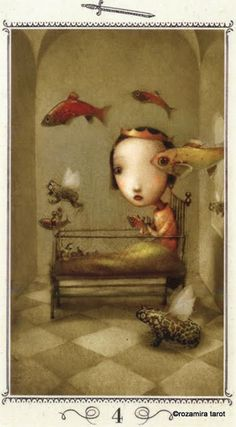 Four of Swords - Nicoletta Ceccoli Tarot by Nicoletta Ceccoli