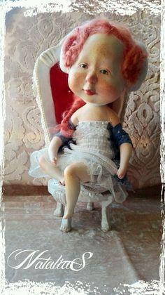 Купить КоролевиШна - гапчинская, королева, трон, Рыжая, веснушки, коллекционная кукла, полимерная глина, девочка