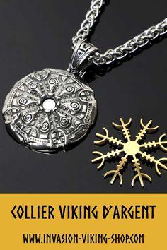 Boussole en Verre Pendentif Viking Symbole Collier 1pcs