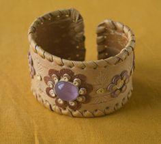 Bracelet made of Birch Bark by the original by SiberianLights