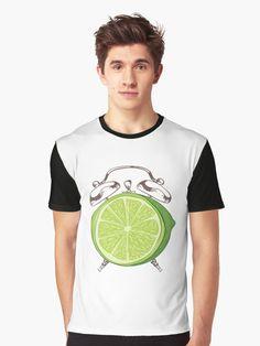 'Lime Time' T-Shirt by Adrian Razvan Petcu Time T, Time Clock, Natural Health, Tshirt Colors, Wardrobe Staples, Chiffon Tops, Female Models, Heather Grey, Classic T Shirts