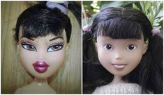 Amazing what a mom on a mission can do! Take hyper-sexualized dolls and make them kid friendly!! There's even a youtube video she made showing you how to do it yourself!!