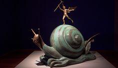 El caracol y el ángel de Dalí