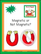 Free Printable Magnetic or Not Magnetic Recording Sheets for Pre-K or Kindergarten via www.pre-kpages.com
