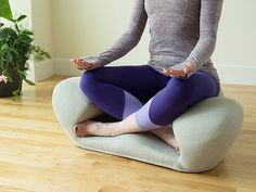 Alexia - Ergonomic Mediation Seat  Meditate, relax, or work in comfort. The unusual lotus-inspired design supports you in all the right places—to sit up straighter and maintain better posture.