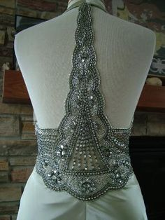 back of a vintage 1930s wedding dress... <3