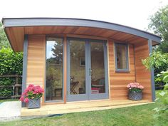 A garden room, office or studio is a big-ticket purchase so you will want to make informed buying decisions. We are here to help, featuring hundreds of different garden room designs, and insight into how they are constructed and how much they cost. Outdoor Office, Backyard Office, Garden Office, Outdoor Rooms, Garden Log Cabins, Garden Lodge, Studio Shed, Garden Studio, Garden Room Lighting
