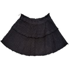 Pre-owned Iro Mini Skirt (425 PLN) ❤ liked on Polyvore featuring skirts, mini skirts, black, women clothing skirts, frilled skirt, frilly skirt, flared skirt, ruffle mini skirt and short flared skirt
