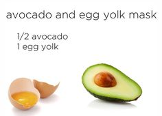 Avocado and Egg Yolk Mask for Frizzy Hair.    Both ingredients are packed with nutrients that can smooth down and restore shine to frizzy hair. In order to absorb all of the nutrients, use this mask while showering and keep it under a cap for 15 min. The steam will help to open up cuticles and absorbs the necessary proteins