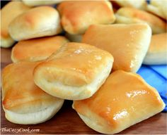 These sweet & buttery rolls are JUST like from the Texas Roadhouse restaurant. They have a hint of sweetness & go so well with their copycat honey butter.