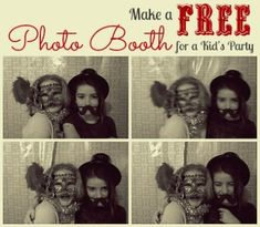 Great DIY tutorial for making your own free photo booth for a kids' party, at Mommy Poppins.