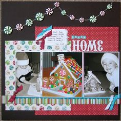 Like the peppermint buttons. - Holiday scrapbooking inspiration! - Club CK Blog - Club CK - The Online Community and Scrapbook Club from Creating Keepsakes