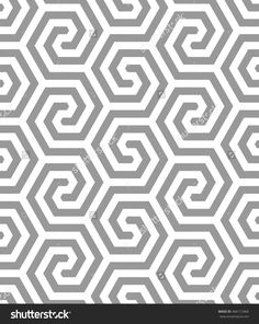 Repeated pattern of polygonal lines forming geometric shapes. Ethnic Patterns, Tile Patterns, Print Patterns, Grey And White Rug, Geometric Cushions, Isometric Design, Geometry Pattern, Illusion Art, Seamless Textures