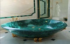 malachite bathtub