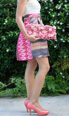 Summery Floral Clutch