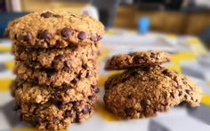Cookies healthy aux flocons d'avoine - Les Gourmandises de Steph Cookies Healthy, Cookies Et Biscuits, Sweets, Hypo, Chocolate, Desserts, Food, Tailgate Desserts, Deserts