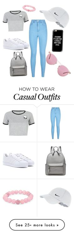 """Casual"" by ylfan on Polyvore featuring adidas, WithChic, Lipsy, NIKE, Oliver Peoples, Palm Beach Jewelry and Casetify"