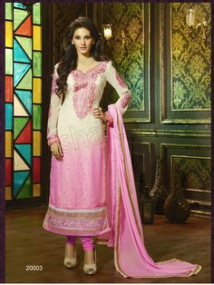 #Designer Staright Suits#Off white & Pink #Indian Wear#Desi Fashion #Natasha Couture#Indian Ethnic Wear# Salwar Kameez#Indian Suit#Pakastani Suits