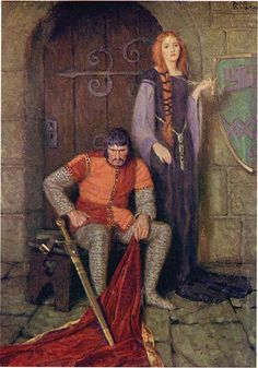 John R. Neill illustration for King Arthur and His Knights by Mead Schaeffer