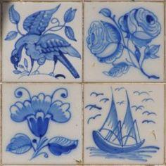 Azulejo Portugues com motivos Florais e animais