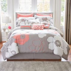Home Expressions™ Blooms 10-pc. Comforter Set & Accessories   found at @JCPenney