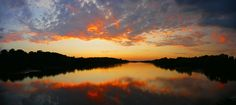 Flames in the Sky - Sunset Over the Delaware by Kevin Reynolds - Sunrise Addict on 500px
