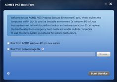 AOMEI PXE Boot makes it possible to boot multiple clients within the LAN via network http://www.tech-wonders.com/2015/01/aomei-pxe-boot-free-boot-multiple-system-via-network.html