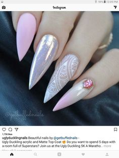 Beautiful Light Pink Nails for Classy Look Picture 5 White Nail Designs, Colorful Nail Designs, Beautiful Nail Designs, Acrylic Nail Designs, Nail Art Designs, Light Pink Nails, White Nails, Gorgeous Nails, Pretty Nails