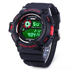 Skmei Multi Function Digital LED Quartz Watch Water Resistant Electronic Sport Watches *** Details can be found by clicking on the image.Note:It is affiliate link to Amazon. #commentbelow