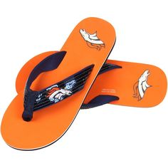 Denver Broncos Women's Sequin Flip Flops