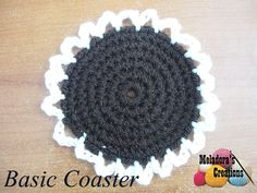 Your place to learn how to Make A Basic Crocheted Coaster for FREE. by Meladora's Creations - Free Crochet Patterns and Video Tutorials