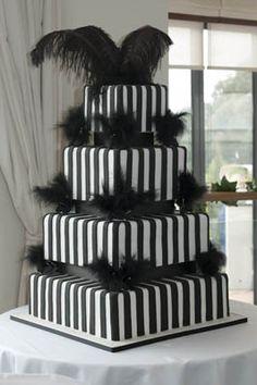 Happy Couple With Wedding Cake