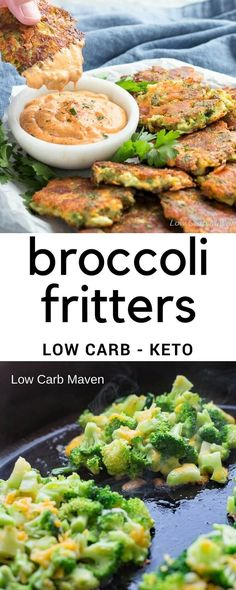 Looking for great broccoli recipes? Try these easy broccoli fritters with cheese for the perfect low carb side or appetizer. #lowcarb #keto #broccoli #sides #glutenfree #sidedish #broccolifritter