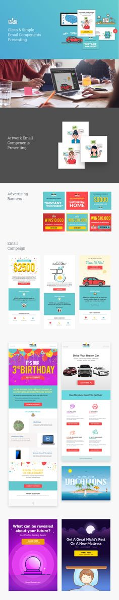 Email Campaign Design Prize Grab Email Template, UI/UX, Icon Design #emailtemplate #emailtemplates #icondesign #icondesigner #wittoricondesign #uiux #uiuxgifs #uiuxdesign #uiuxinspiration #thenationalsocietyofuiuxdesigners E Mail Template, App Marketing, Email Campaign, Ui Kit, Interface Design, App Development, Case Study, Icon Design, Engineering