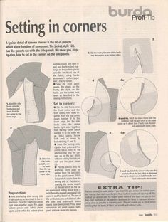 All sizes | Burda WOF tip sheet - Setting in Corners | Flickr - Photo Sharing!