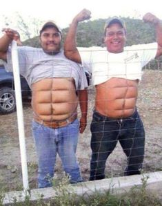 If you don't wanna work for the abs then get Instant abs. two fine examples of temporary instant abs You Make Me Laugh, Laugh Out Loud, Funny Cartoons, Funny Jokes, Funny Minion, Funny Laugh, Funny Texts, Funny Pranks, Instant Abs