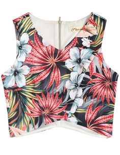 44672d5040b Shop Red V Neck Sleeveless Floral Vest online. SHEIN offers Red V Neck  Sleeveless Floral Vest   more to fit your fashionable needs.