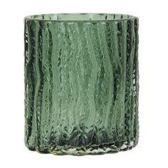 Lifestyle Tree Waxinelichthouder Glas 7 x Ø8 cm - Groen