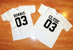 Bonnie and Clyde T-shirts Couple, Bonnie and Clyde Shirts by trend2tees. Explore more products on http://trend2tees.etsy.com